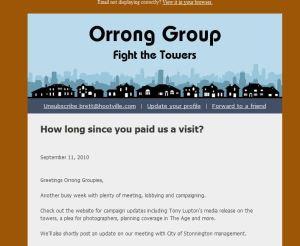 Orrong Group e-newsletter